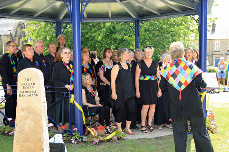 Silsden bandstand opening ceremony