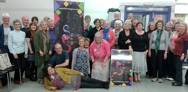Silsden Singers and their new banners